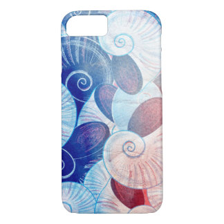 Seashell Scene Pattern iPhone 8/7 Case
