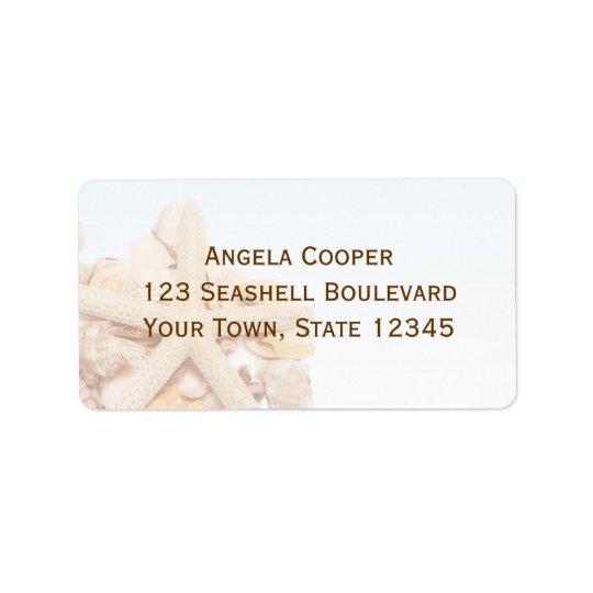 Seashell Starfish Label Address Label