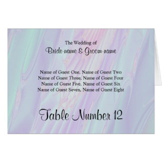 Seashell Style Pattern. Wedding Guest Seating Card