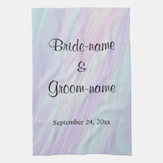 Seashell Style Pattern. Wedding. Tea Towel