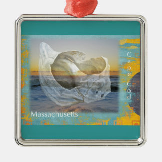 Seashell & Surf - Cape Cod Massachusetts Christmas Ornament