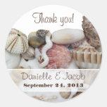 Seashell Treasures Personalised Round Label