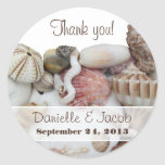 Seashell Treasures Personalised Round Label Round Sticker