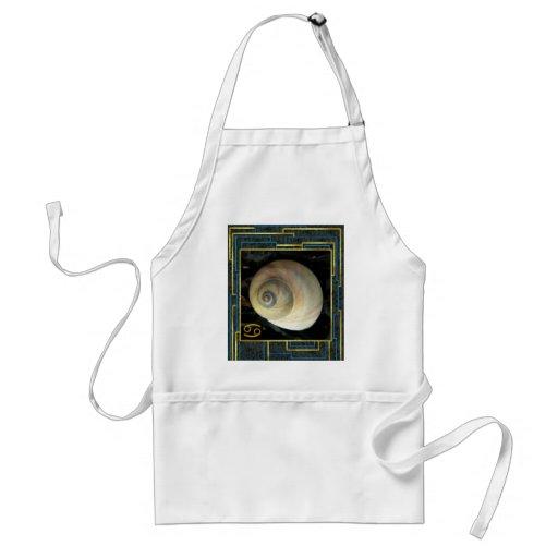 Seashell Zodiac, Cancer Moon Shell Apron