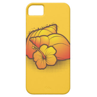 seashells and palmtree 2 orange iPhone 5 cover