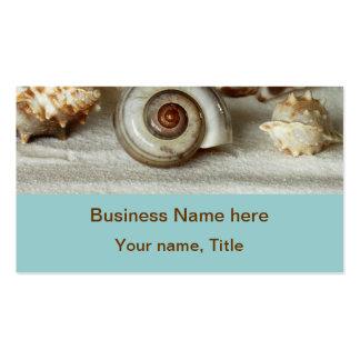 Seashells and starfish beach Business Cards