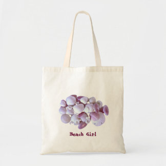 Seashells and Starfish Beach Girl Tote Bag