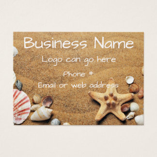 Seashells and Starfish in the Sand Business Card