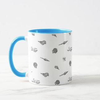 Seashells and Starfish pattern Mug