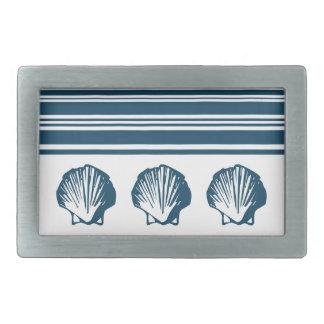 Seashells and stripes belt buckle