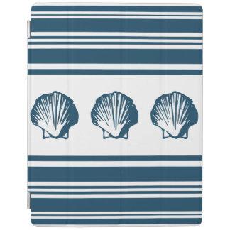 Seashells and stripes iPad cover