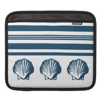 Seashells and stripes iPad sleeve