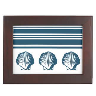 Seashells and stripes keepsake box