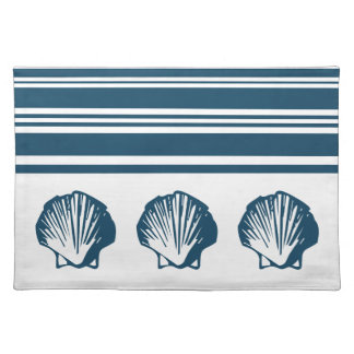Seashells and stripes placemat