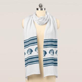 Seashells and stripes scarf