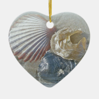 Seashells and Surf Christmas Ornament