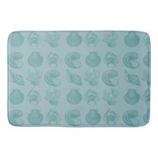 seashells bath mat
