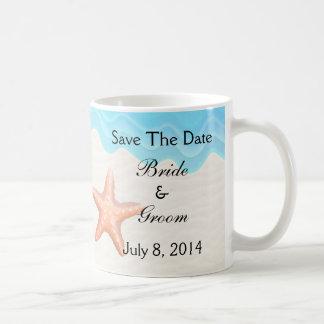 Seashells Beach Save The Date Coffee Mug