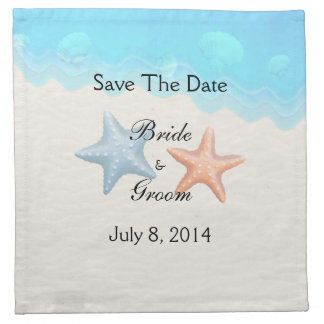 Seashells Beach Save The Date Napkin