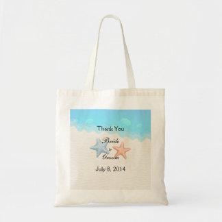 Seashells Beach Thank You Budget Tote Bag