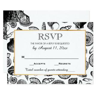 Seashells Beach Wedding Response RSVP Card