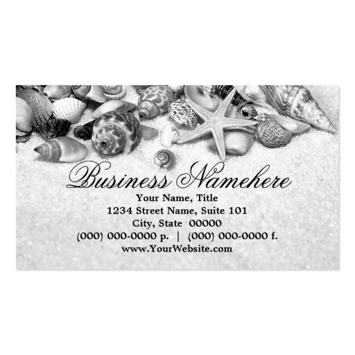 Collections of sea shell business cards seashells business cards colourmoves
