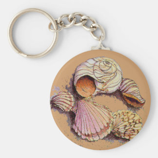 SEASHELLS by SHARON SHARPE Key Ring