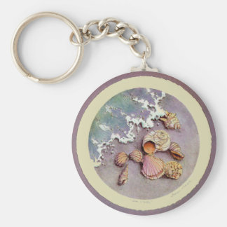 SEASHELLS by the SEA by SHARON SHARPE Key Ring