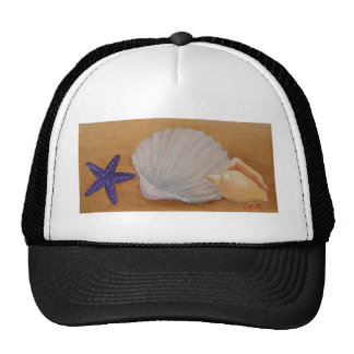 Seashells Design Trucker Hats