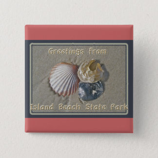 Seashells Greetings From IBSP Seaside Park NJ 15 Cm Square Badge