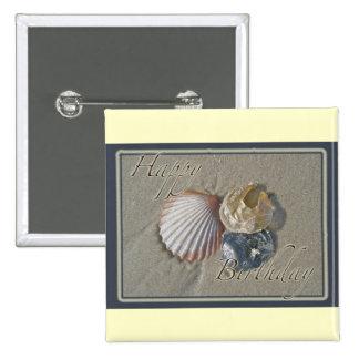 Seashells Happy Birthday Coordinating Items 15 Cm Square Badge
