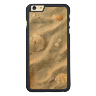 Seashells In Sand Carved Maple iPhone 6 Plus Case