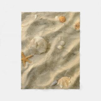 Seashells In Sand Fleece Blanket