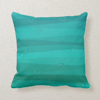 Seashells in the Waves Throw Pillow