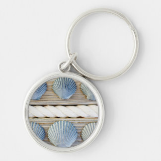 Seashells | New York City Silver-Colored Round Key Ring