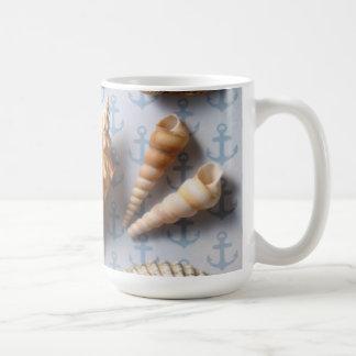 Seashells On Anchor Backdrop Coffee Mug