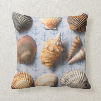Seashells On Anchor Backdrop Cushion
