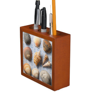 Seashells On Anchor Backdrop Desk Organiser