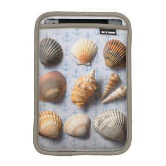 Seashells On Anchor Backdrop iPad Mini Sleeve