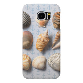Seashells On Anchor Backdrop Samsung Galaxy S6 Cases