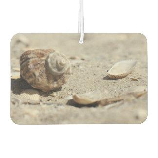 Seashells On Sand By The Sea Car Air Freshener