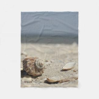 Seashells On Sand By The Sea Fleece Blanket