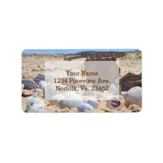 Seashells on the Beach by Shirley Taylor Address Label