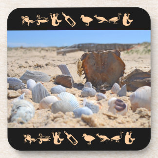 Seashells on the Beach by Shirley Taylor Beverage Coasters