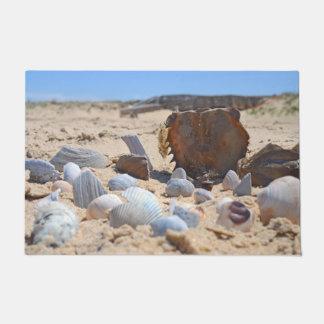 Seashells On The Beach by Shirley Taylor Doormat