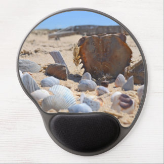 Seashells on the Beach by Shirley Taylor Gel Mouse Pad