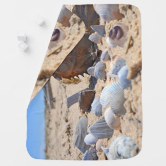 Seashells on the Beach by Shirley Taylor Receiving Blankets