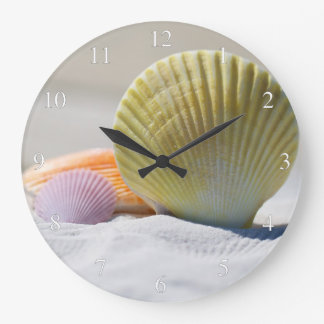 Seashells On The Beach Small Numbers Large Clock