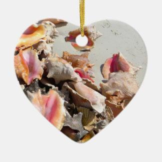 Seashells on the Beach | Turks and Caicos Photo Christmas Ornament
