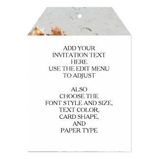 Seashells on the Beach   Turks and Caicos Photo 13 Cm X 18 Cm Invitation Card